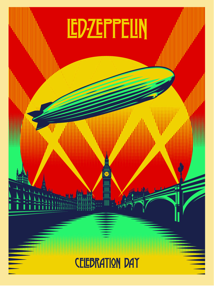 Shepard Fairey Celebration Day 18x24 poster With Pantones Fixed