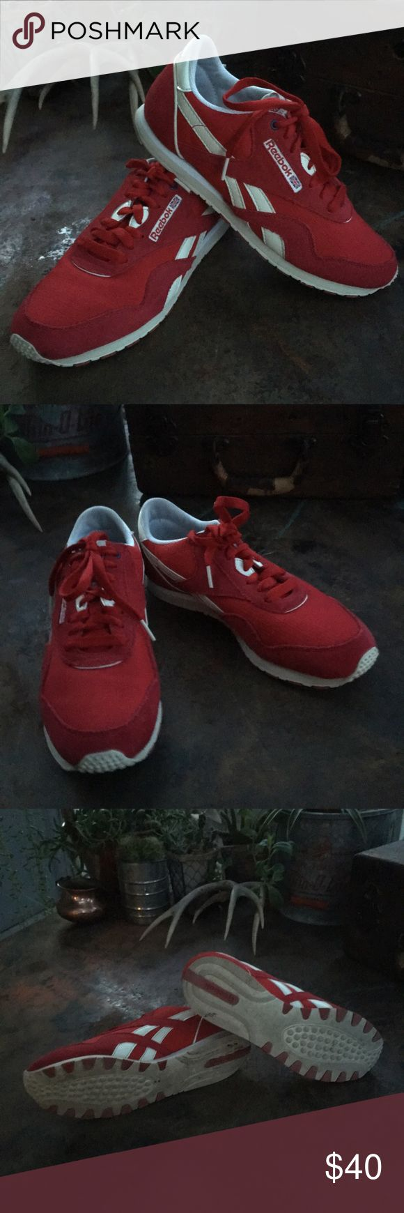 Reebok classic sneakers Fantastic red& white Reebok classic sneakers in great condition Reebok Shoes Sneakers