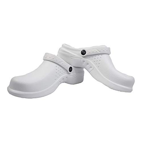 bd2ab85ca92f7 Vegan Dansko Shoes - Natural Uniforms Ultralite Women's Clogs with Strap,  Work Mule (Size 7, White)