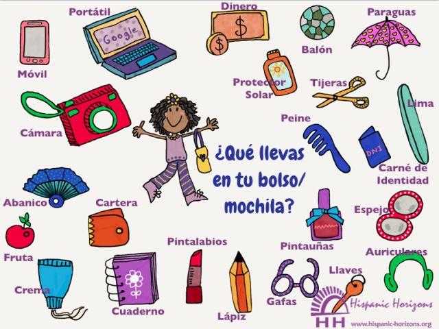 ¿Qué llevas en tu bolso/mochila? (A1-A2) | HISPANIC HORIZONS, un blog para practicar tu español