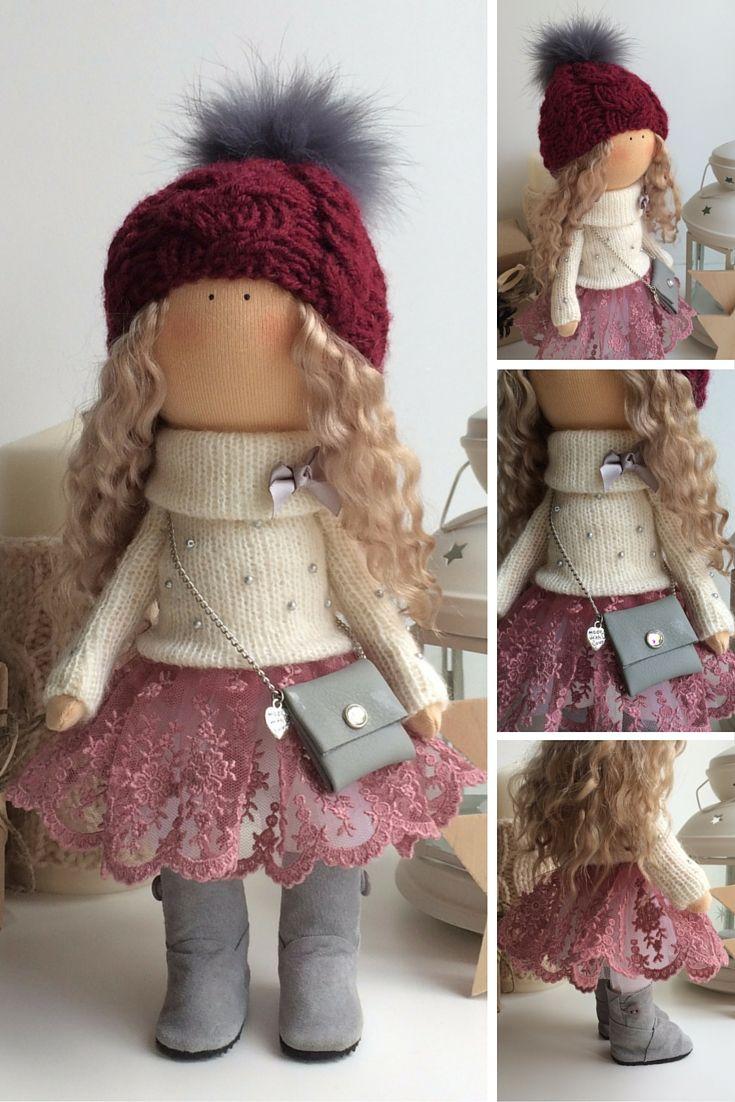 Tilda doll handmade, cloth doll, textile doll, home decoration doll, nursery decor doll, love doll