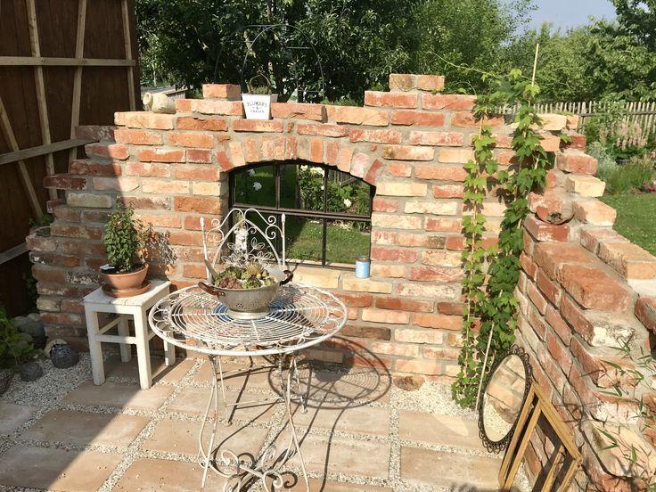 Ruine Mauer im Garten aus Ziegeln selbst gebaut – # Garten
