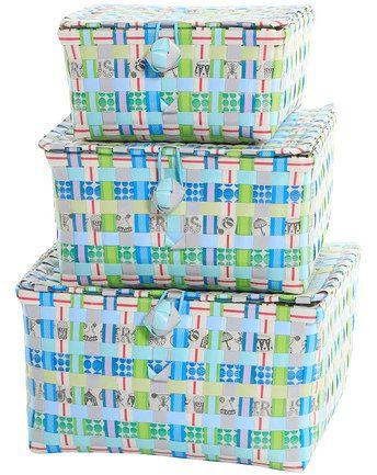 Klappschachteln FRANCIS 3er-Set in blau/grün von OVERBECK AND FRIENDS® ✔ Kurze Lieferzeit ✔ Jetzt bei tausendkind kaufen!