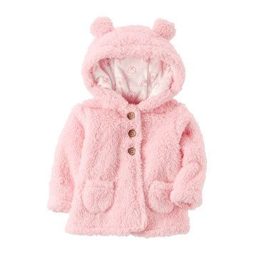 Baby Girl Carter's Pink 3D Sherpa Jacket/