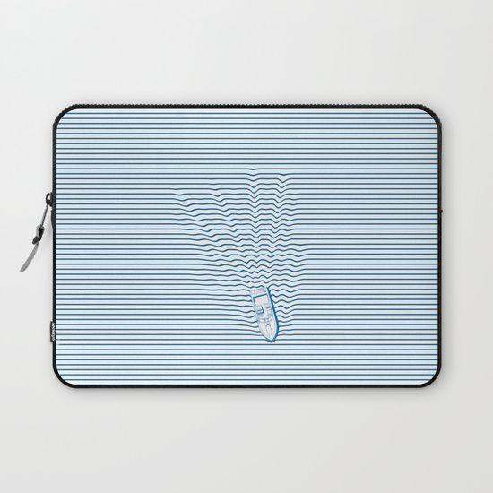 WAKE Laptop Sleeve by Phil Jones | Society6