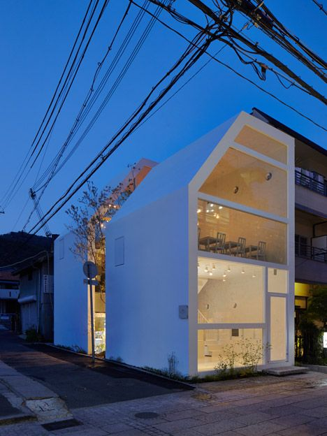 mahabis architecture // nature within architectural design. this cafe and sweet shop in japan wraps around a tree.