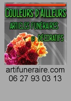 Societe COULEURS D'AILLEURS Confection de composition florale funeraire et decorative ELVEN MORBIHAN BRETAGNE