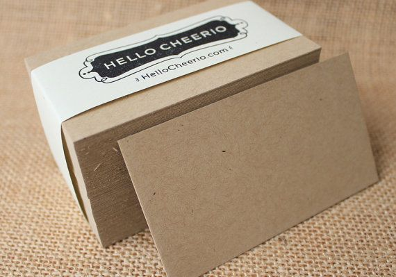 Thick Speckled Kraft Blank Business Cards: Set of 100