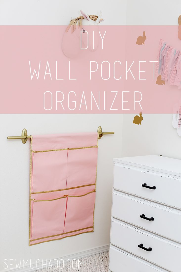 Sew a Wall Pocket Organizer with this DIY Wall Pocket Organizer Tutorial! It will be perfect for storing books, papers, and more!