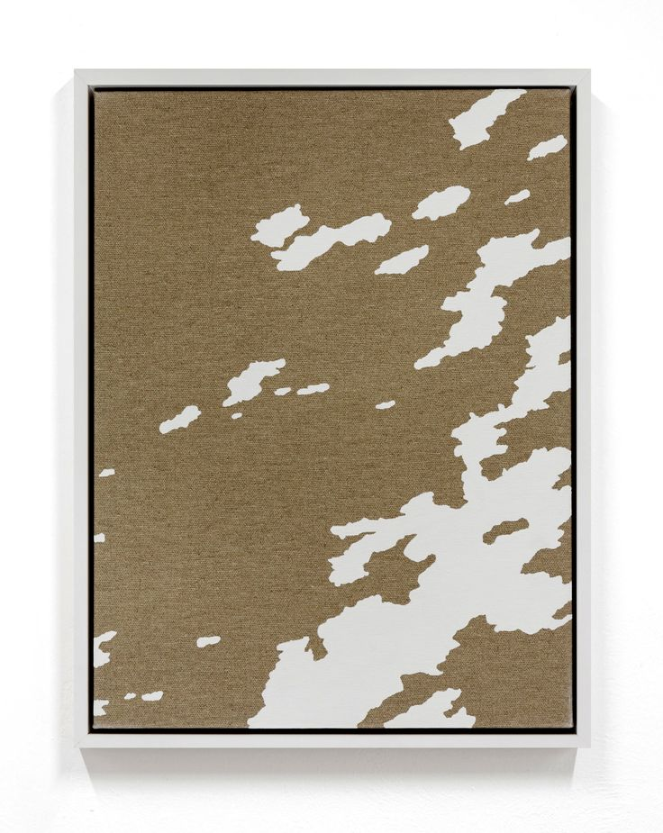 Pedro Matos_Between dawn and the North Wind 2016  Enamel on unprimed cotton canvas, wood stretchers, wood frame 15 7/10 × 11 4/5 in 40 × 30 cm