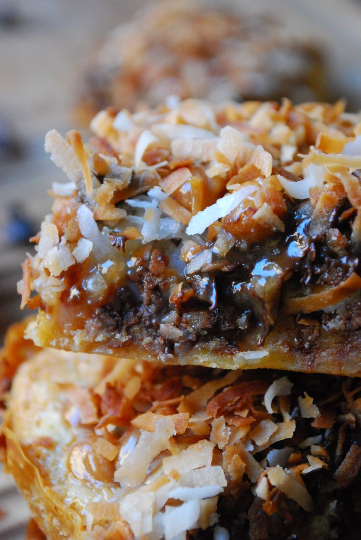 Samoa Magic Bars Recipe Magic Bars, Samoa and Bar