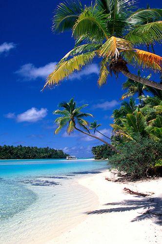 Beach, One Foot Island, Aitutaki, Cook Islands | Douglas Peebles