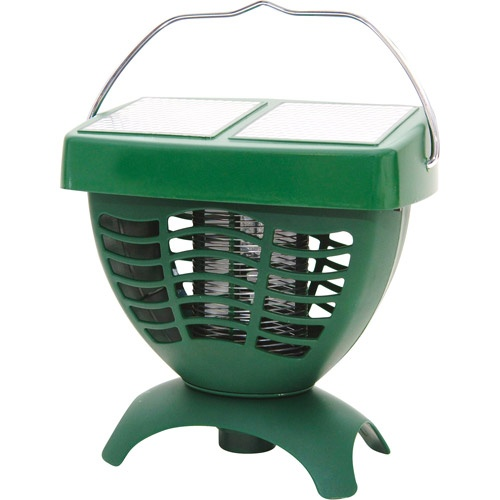 Sunforce Solar-Powered Mosquito Zapper - By using this high-voltage grill zapper, you can create a bug-free environment outdoors without using poisons, sprays or chemicals. #WalmartGreen