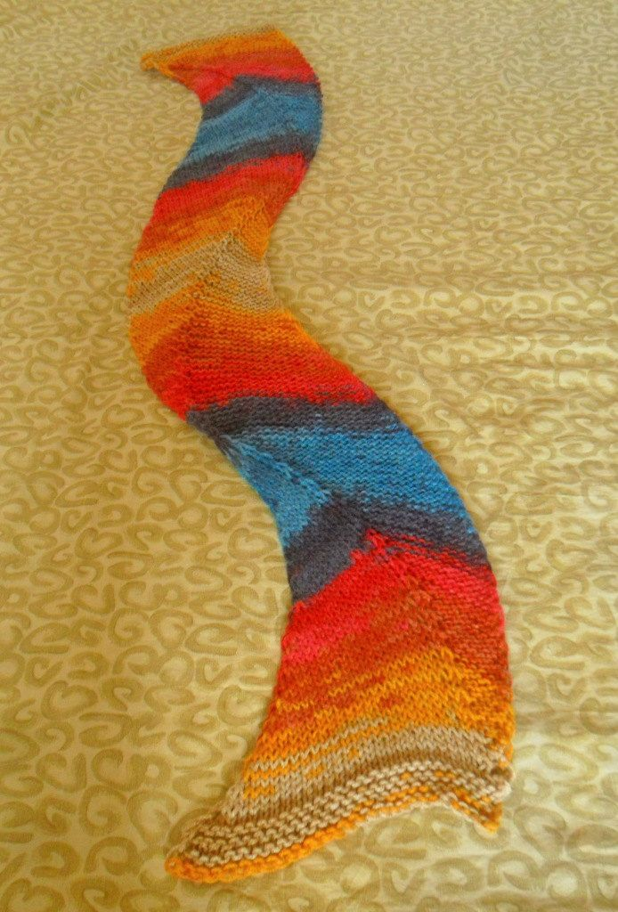 Snakeld, hand knitted scarf, very soft, beautiful autumnal colours by SimonaStyleByHand on Etsy