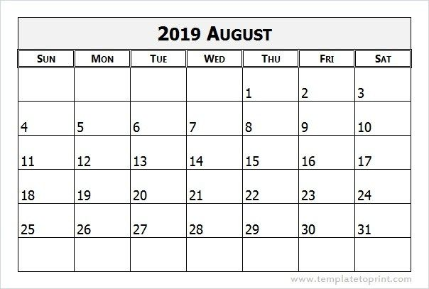August 2019 Calendar Word With Images Calendar Word Calendar