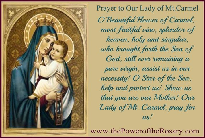 Feast Of Our Lady Of Mount Carmel Quotes: 174 Best Images About Pray Without Ceasing On Pinterest