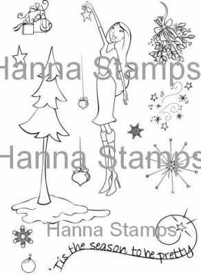 Hanna Stamps clear stamps Tis the Season