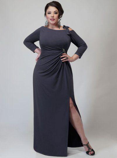 Elegant plus size evening dress  prom night styles