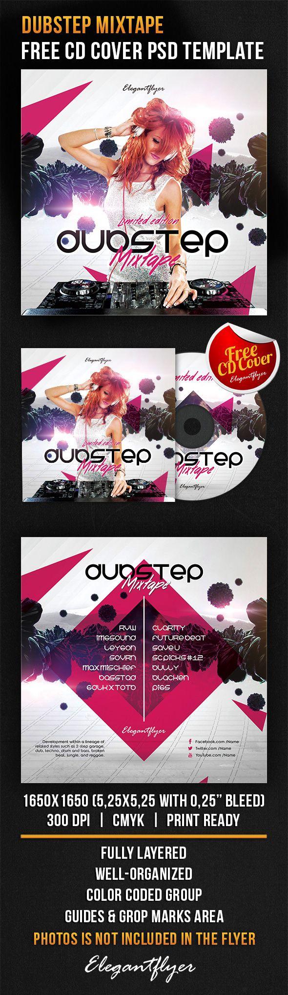Dubstep Mixtape – Free CD Cover PSD Template https://www.elegantflyer.com/free-cd-dvd-templates/dubstep-mixtape-free-cd-cover-psd-template/