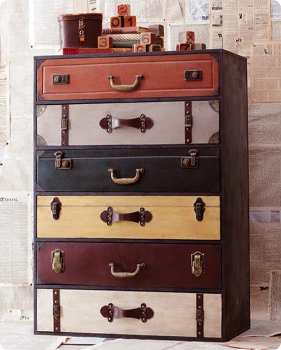 Suitcase Dresser Ikea Hack Travel Bedroom Travel