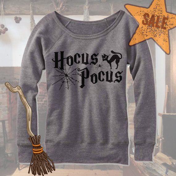 Halloween Hocus Pocus Off Shoulder. Wideneck Hocus by FamFamShirts