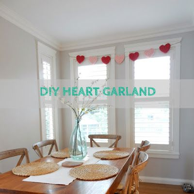 Alicia On A Sunny Day: DIY Valentine Heart Garland