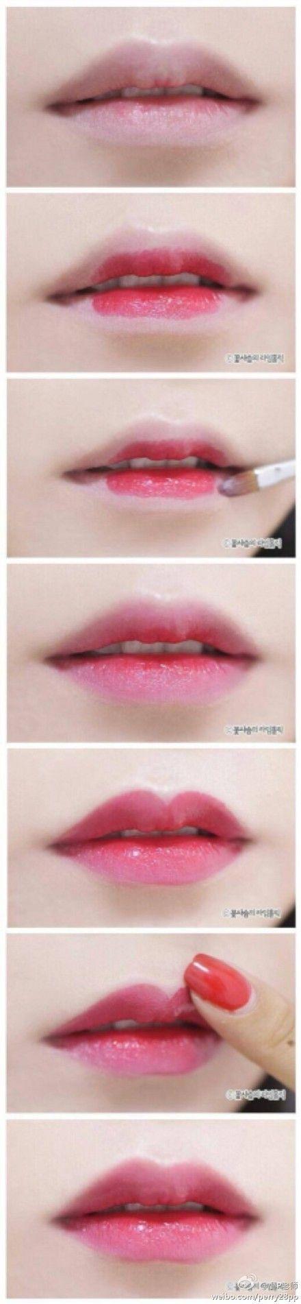想不想像韩剧女主角一样拥有楚楚可怜的唇妆...@Kaya●阿肆采集到教◆程(117图)_花瓣数据图