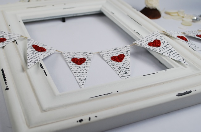 How to make a Pennant Heart Garland