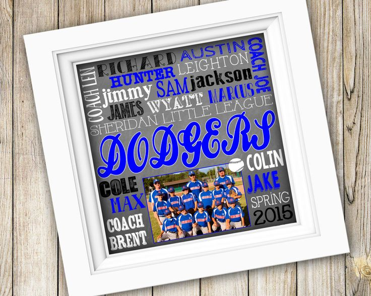 Baseball Coaches Gift ~ Personalized Custom Printable Team Photo Subway Art ~ Digital Image JPEG PDF ~ End of Season Little League Softball by SubwayStyle on Etsy