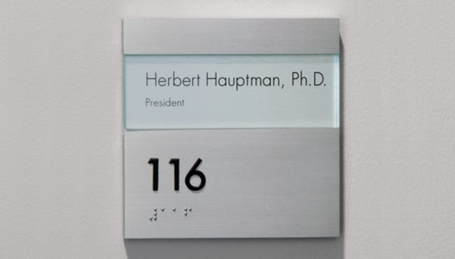 Simple Room ID w/ Tactile and Braille