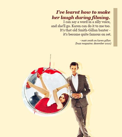 Karen Gillan and Matt Smith.  This makes me sad. No more Karen Gillan or Matt Smith on Doctor Who.