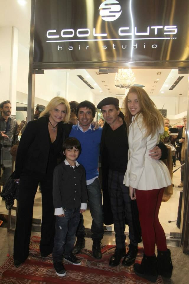 Alvaro con la familia Laport