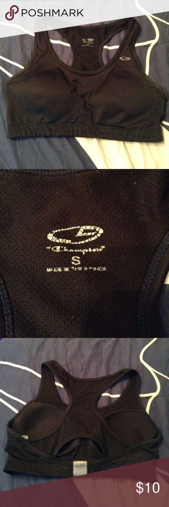 Black Champion Sports Bra Champion sports bra, size Small. Lightly padded. Great for running, the gym, or sports! Champion Intimates & Sleepwear Bras