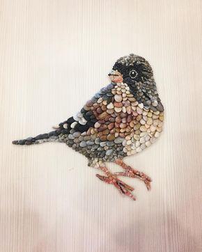 #taş #çakıltaşı #kuş #bird #mozaik #mozaika #pebbleart #pebblemosaic #bahar