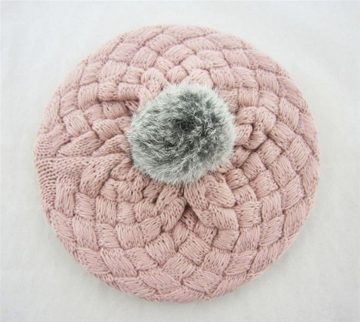 Cute Crochet Toddler Beanie With Pom-Pom