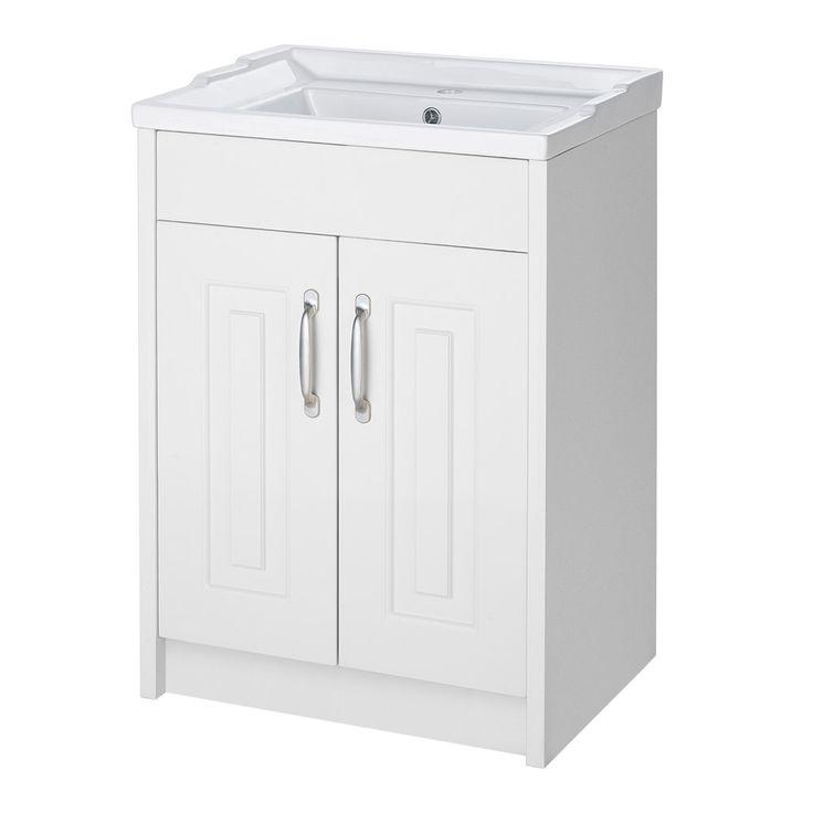 York Traditional White Bathroom Basin Unit | Victorian Plumbing.co.uk