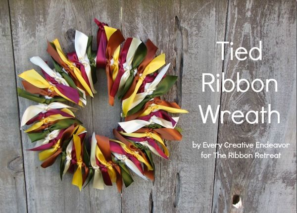 Tied Ribbon Wreath Tutorial - {The Ribbon Retreat Blog} for Fall