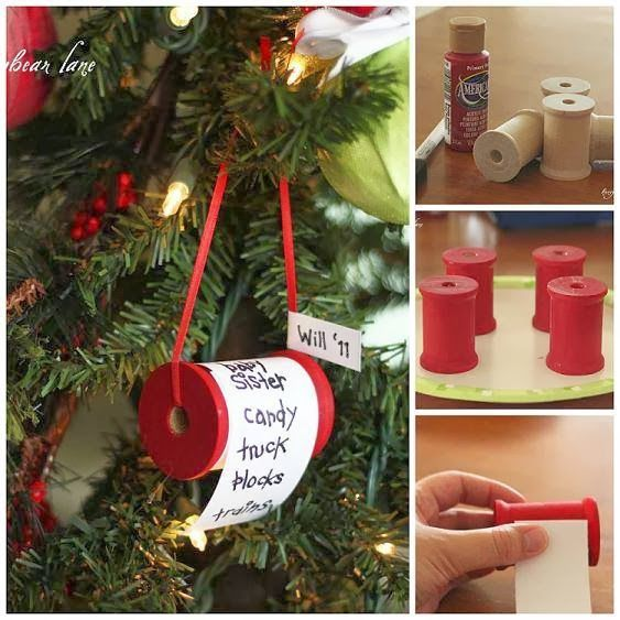 Christmas DIY wish list ornament
