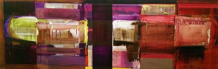 """""""Scan I"""" 52cm x 152cm. For more information please contact REDSEA Gallery on (07) 3162 2230 © John Waller"""