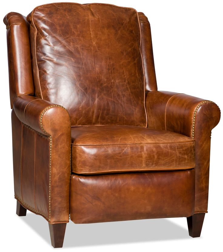 Bradington Young Aubree Leather Recliner Body Fabric Leg