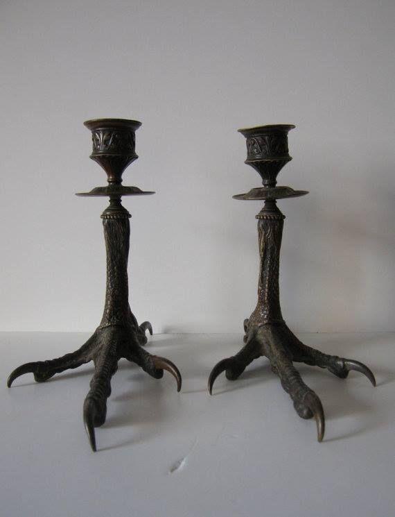 Antique candleholders