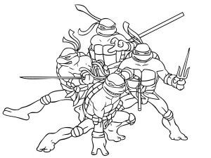 teenage mutant ninja turtles makes funny face coloring page free printable coloring pages for