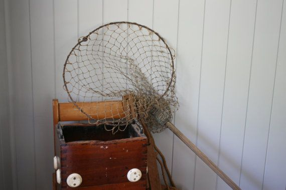 Rustic Fish Landing Net Fishing Net for Display by FoundByHer
