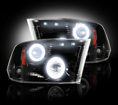 Recon Smoked Projector Headlights with CCFL Technology (10-13 Cummins)