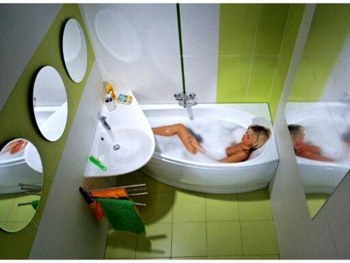 small bath for small bathroom:)