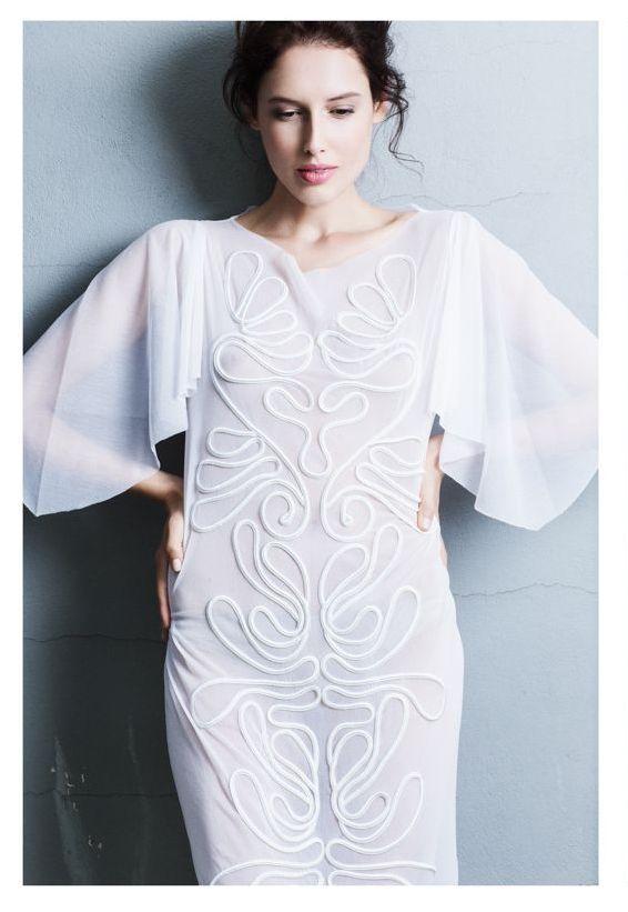 Ifigenia Fokas SS15 Embroidered dress Photo credit Ilias Agiostratitis