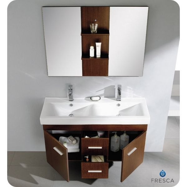 Illustration Of Adorable Concept Of Double Sink Bathroom