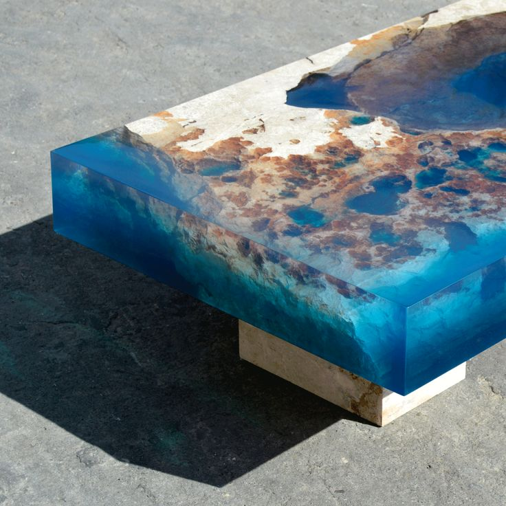 Best AD F TABLES RESIN Images On Pinterest Resin Coffee - Incredible layered glass table mimics oceans depths