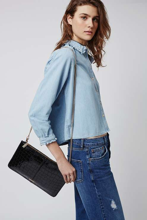 Zip-Top Clutch Bag - Bags & Purses - Bags & Accessories - Topshop