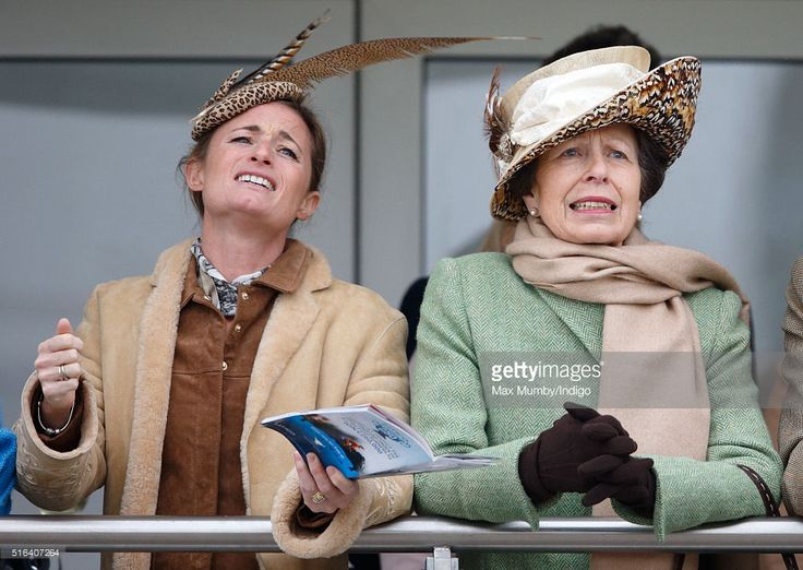 (EMBARGOED FOR PUBLICATION IN UK NEWSPAPERS UNTIL 48 HOURS AFTER CREATE DATE AND TIME) Dolly Maude and Princess Anne, The Princess Royal watch the racing as they attend day 4, Gold Cup Day, of the Cheltenham Festival on March 18, 2016 in Cheltenham, England. (Photo by Max Mumby/Indigo/Getty Images)